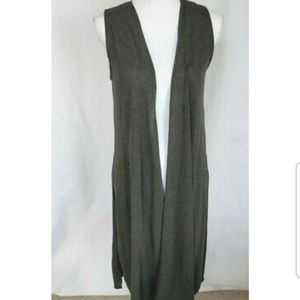 New Lularoe Gray Long Cardigan Duster XS